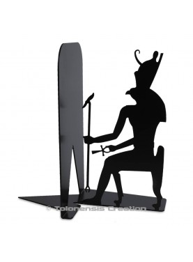 Metal bookend Horus on the theme of the ancient egypt. Height 19 cm