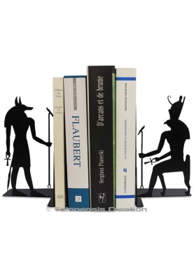 Stunning bookends Anubis and Horus on the theme of the ancient Egypt. Height 19 cm