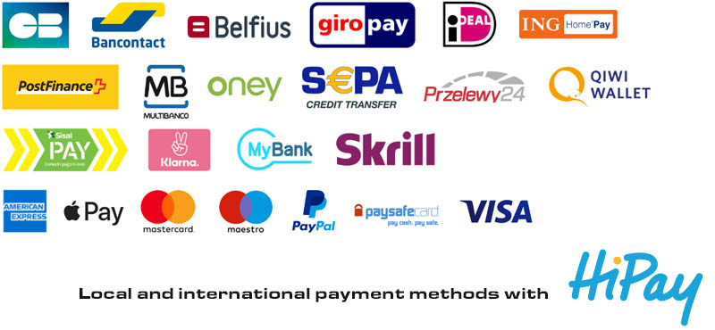 Local payment methods using HiPay